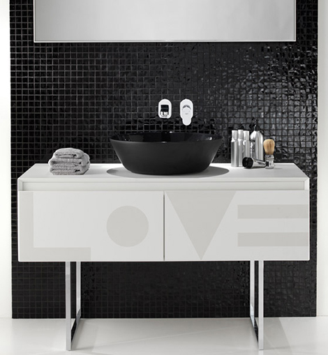 ext black white bathrooms 1 Black and White Bathrooms   bathroom sets and design ideas by Ex.t