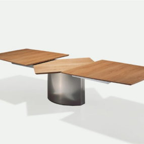 Dining Table for Small Spaces: Extendable Adler by Draenert