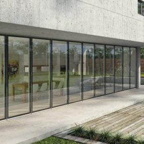 Exterior Folding Glass Doors by Solarlux