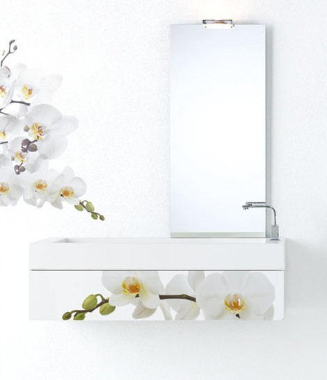 f lli branchetti bathroom furniture white flowers Modern Bathroom Furniture   white floral decor by Fratelli Branchetti