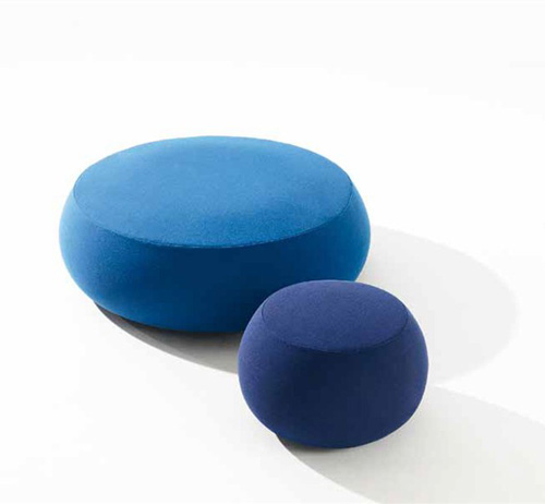 Fabric Pouf Soft Round Ottoman Pix By Arper