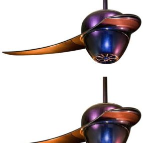 Ultra-modern Ceiling Fan by Fanimation – Enigma single blade fan gets iridescent finish!