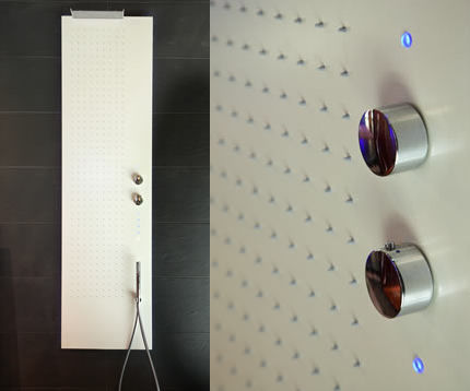 Shower Panel from Fantini – the new Acquapura Semi-Incasso panel