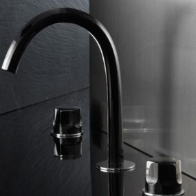 "Glass Bath Faucet from Fantini – Venice (""Venezia"") by Matteo Thun"