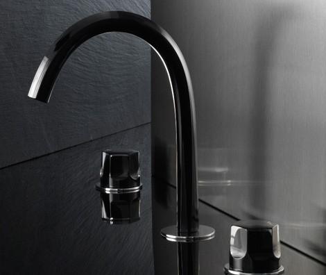 fantini faucet venice 3 Glass Bath Faucet from Fantini   Venice (Venezia) by Matteo Thun