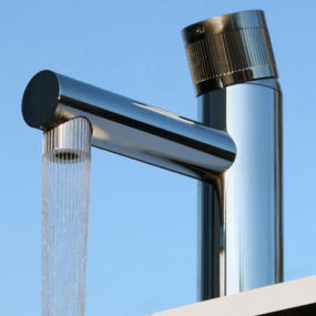 """Hole in the Water"" faucet diffuses water flow, by Airo"