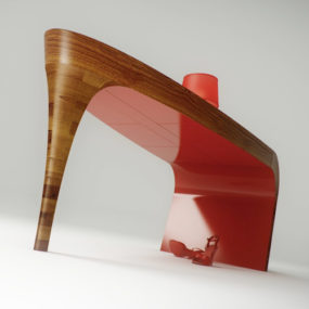 Feminine Table Design – Stiletto by Splinter Works