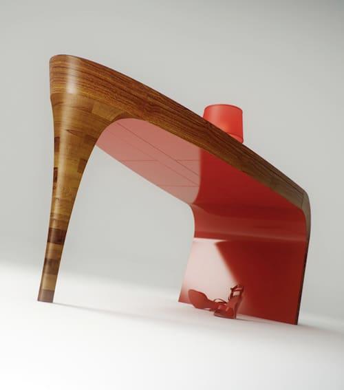 feminine table design stiletto splinter works 3