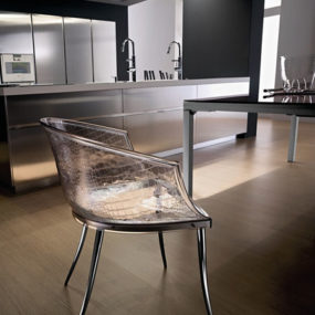 Clear Glass Chairs by Fiam are 'Dandy'