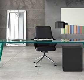Rectangular Glass Table for modern office, living or dining room by Fiam