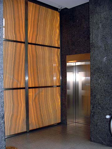 Translucent Stone Panels From Fiberstone Glass Backlit