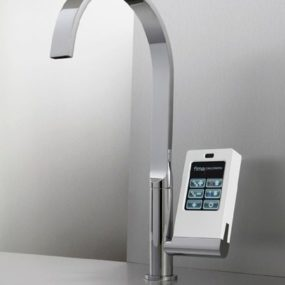 Latest Kitchen Technology: touch-screen with icons faucet by Fima