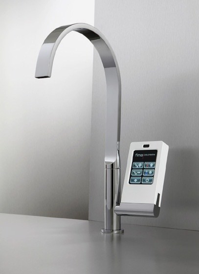 Latest Kitchen Technology: Touch Screen With Icons Faucet By Fima