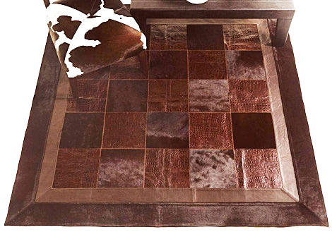 fiorentino carpet quadro 1 Chocolate Brown Rug by Fiorentino   Quadro