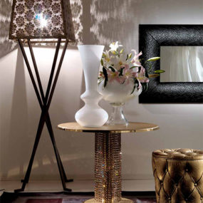 Coffee Table in Metal with Swarovski Crystals from Fiorentino Home