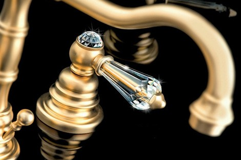 Luxury Faucets with Swarovski Crystal by Fir Italia - Glamour ...