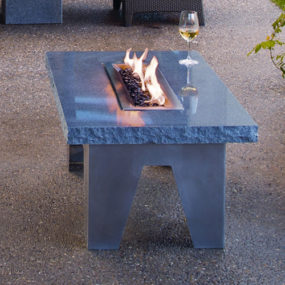 Granite Fire Table by Stone Forest