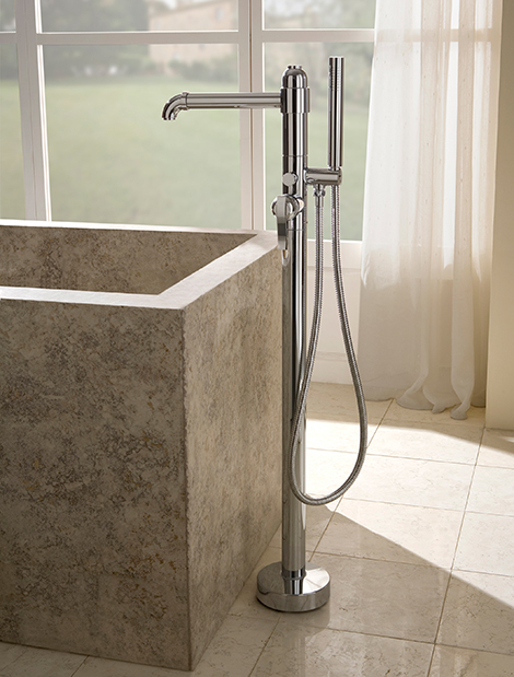 floor mounted tub filler graff 1