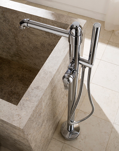 floor mounted tub filler graff