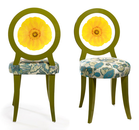 floral chairs modern decorative floral art 1