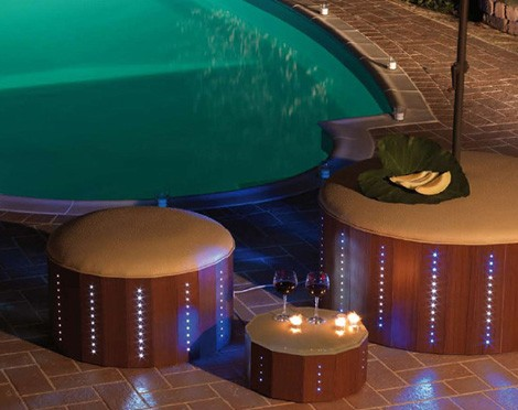 florastyle led poolside furniture Cool LED Poolside Furniture from Florastyle