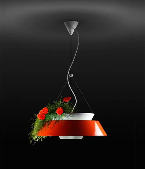 flower pot lighting pendant lamp eden torremato 1
