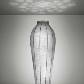 Flower Vase Floor Lamp with Resin Shade by Flos