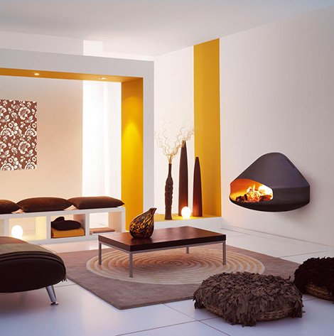 focus wall mounted fireplace miofocus