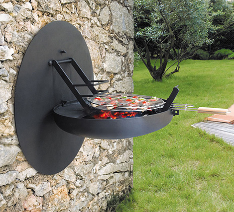 folding barbecue grill wall mounted focus Folding Barbecue Grill   Wall Mounted Grills by Focus