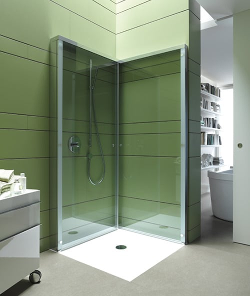 Folding Shower Enclosure By Duravit Offers Extra OpenSpace In Compact  Bathroom