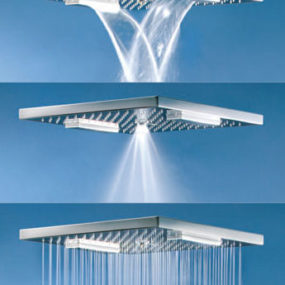 Charade square oversized shower head by Fornara & Maulini – the Multifunction shower head