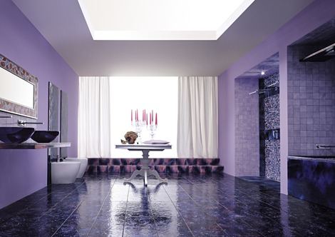 Purple Bathrooms And Purple Bathroom Ideas U0026 Designs, By Franco Pecchioli  Ceramica Design Inspirations
