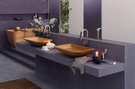 francoceccotti wooden bathroom 1