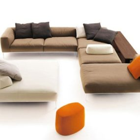 Modular Sofas from B&B Italia – new sectional sofa Frank by Antonio Citterio
