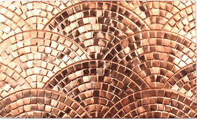 Decorative Metal Trim from Frank Morrow – the Fountain Mosaic design in non-perforated metal coils