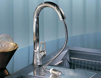 franke mythos ff 1080 stream only pull out faucet New Franke Mythos FF 1080 Kitchen Faucet   contemporary pull out