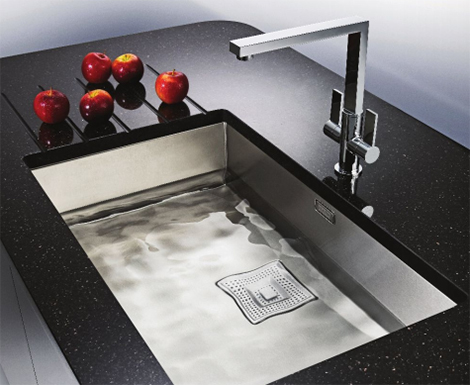 franke peak single sink Franke Peak Sink Collection   new luxury kitchen sinks for 2010