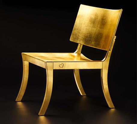 fredrik mattson golden chair Designer Chair by Fredrik Mattson   new Golden Chair design promotes green choice