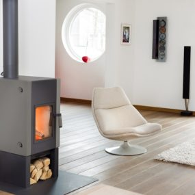 Freestanding Fireplace Boxer Plus from Harrie Leenders