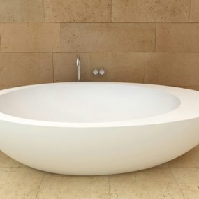 Freestanding Oval Ceramic Bath by Ceramica Cielo