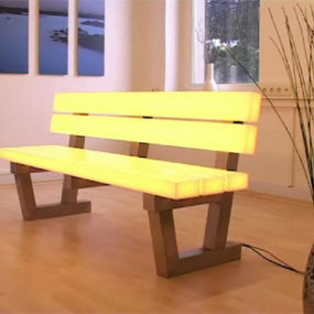 Light Bench by Frellstedt – modern RGB LED lighting technology