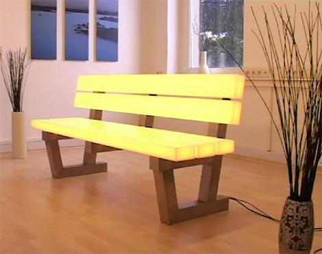 frellstedt light bench Light Bench by Frellstedt   modern RGB LED lighting technology
