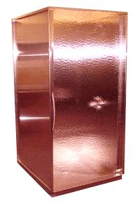 frigo design copper shower enclosure Copper Shower Enclosure by Frigo Design   a techy trend