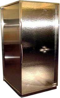 frigo design stainless steel shower enclosure Copper Shower Enclosure by Frigo Design   a techy trend