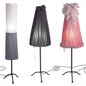Funky Floor Lamps by Angelika Morlein inspired by Grand Hotel frequenters