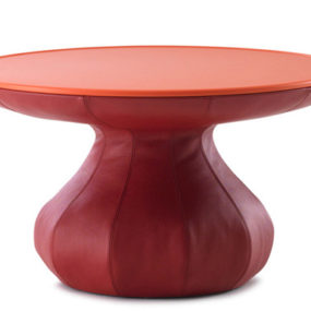 Funky Lounge Table in Leather by Leolux