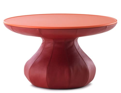 funky lounge table leather leolux 1