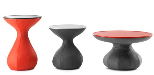 funky lounge table leather leolux 3