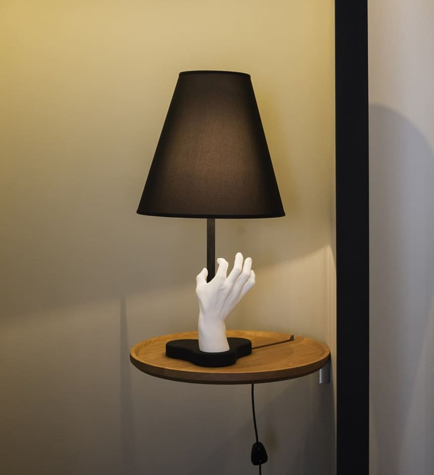 Funky table light mano with helping hand from fontanaarte aloadofball