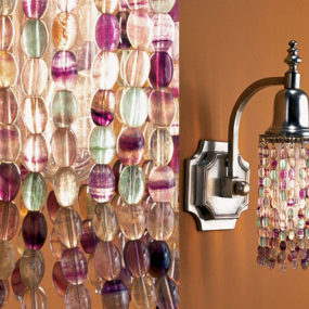 Beatrice sconce from Fuse Lighting – the gemstone art lighting